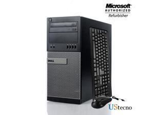 Dell Optiplex 9010 Tower Computer Intel Core i5 3470 8GB RAM 256GB SSD DVD Windows 10 Home New Free Keyboard, Mouse,Power cord,WiFi Adapter