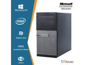 Grade A -Dell Optiplex 3020 Tower PC Intel Core i5 4th gen 4570 (upto 3.6 GHz) 8GB 1TB HDD DVD WiFi + Bluetooth 4.0, USB 3.0 Windows 10 Home 64 Bit