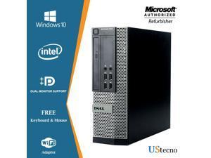 Dell Optiplex 7010 SFF Computer Intel Core i5 3470 8GB RAM New 256GB SSD DVD Windows 10 Home New Keyboard, Mouse,Power cord,WiFi Adapter