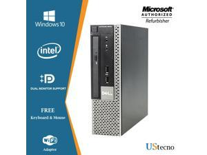 Dell Optiplex 9010 USFF Computer Intel Core i5 3470 DVD Windows 10 New Free Keyboard, Mouse,Power cord,WiFi Adapter