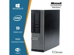 Dell Optiplex 3020 SFF Desktop Computer Intel Core i5 4570 4GB New 240GB SSD DVD Windows 10 Professional with Free Keyboard, Mouse,Power cord,WiFi Adapter
