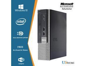 Dell Optiplex 9020 Ultra Small Form Factor Desktop Intel Core i5 4570S 8GB RAM 500GB HDD WiFi, DVD, DP, VGA, USB 3.0,Windows 10 Pro 64 Bit