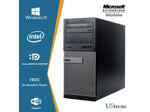 Dell Optiplex 9010 Tower Computer Intel Core i5 3470 8GB RAM 256GB SSD DVD Windows 10 Professional  New Free Keyboard, Mouse,Power cord,WiFi Adapter