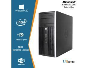 HP Compaq Elite 8200 Tower Computer Intel Core i5 2400 8GB 256GB SSD 500GB DVD Windows 10 Professional New Free Keyboard, Mouse,Power cord,WiFi Adapter
