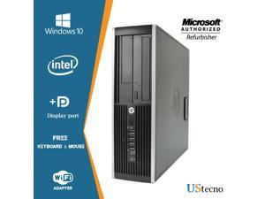 HP Compaq Elite 8300 SFF Computer Intel Core i5 3470 8GB 256GB SSD DVD Windows 10 Professional New Free Keyboard, Mouse,Power cord,WiFi Adapter