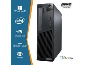Lenovo ThinkCentre M92P SFF Computer Intel Core i7 3770 16GB 256GB SSD DVD Windows 10 Professional New Free Keyboard, Mouse,Power cord,WiFi Adapter
