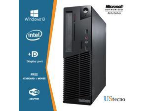 Lenovo ThinkCentre M91P SFF Computer Intel Core i5 2400 8GB 256GB SSD DVD Windows 10 Professional New Free Keyboard, Mouse,Power cord,WiFi Adapter