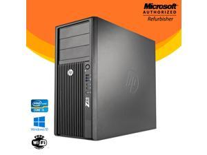 HP Z210 Tower Computer Intel Core i5  2nd Gen 2400 8GB NEW 480GB SSD Windows 10 Professional New Keyboard, Mouse,Power cord,WiFi Adapter