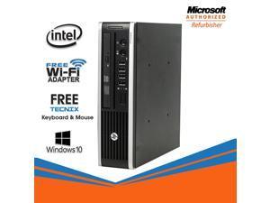 HP Compaq Elite 8300 USFF Desktop Computer Core i5 3470s 8GB RAM 256GB SSD DVD Windows 10 Professional New Keyboard, Mouse,Power Adapter,WiFi Adapter