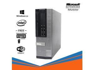 Dell Optiplex 9010 SFF Computer Intel Core i5 3470 8GB RAM 256GB SSD DVD Windows 10 Home New Keyboard, Mouse,Power cord,WiFi Adapter