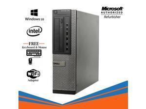 Dell Optiplex 990 Desktop Computer Intel Core i5 2400 8GB NEW 256GB SSD  DVD Windows 10 Professional New Keyboard, Mouse,Power cord,WiFi Adapter