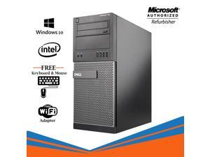 Dell Optiplex 790 Tower Computer Intel Core i5 2400 8GB 500GB HDD DVD Windows 10 Professional New Keyboard, Mouse,Power cord,WiFi Adapter