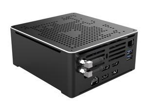 4K Mini PC,Desktop Computer,Intel Core I9 10880H,Windows 10 Pro/Linux,Support Proxmox,Vmware,(Black),[HUNSN BY02],4USB3.0/2USB2.0/2LAN/BT4.0/1DP1.2/1HDMI2.0/1TYPE-C/WiFI,(64G RAM/1TB SSD)