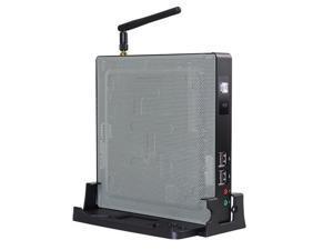 Mini PC,Desktop Computer,AMD GX420GL,Windows 10 Pro/Linux Ubuntu,(Black),for Digital Signage/Pos Server,[Fan/WiFi/BT4.0/VGA/HDMI/6USB2.0/2USB3.0/LAN/COM],(4G RAM/64G SSD)