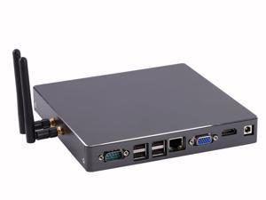 Mini PC,Desktop Computer,Intel Core I7 3537U,with Windows 10 Pro/Linux Ubuntu support,(Black),[HUNSN BH08G],[COM/VGA/HDMI/LAN/ 8*USB2.0/ With Cooling fan],(8G RAM/256G SSD/1TB HDD)