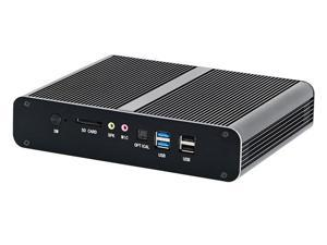 HUNSN 4K Mini PC, Intel Gen 10th I7 1065G7, Small Computer, Server, HTPC, BM27, AC WiFi/BT/2HDMI2.0/2LAN/4USB3.0/4USB2.0, (16G RAM/256G SSD)
