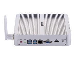 HUNSN Fanless Mini PC, Intel Core I5 8250U/8259U/8265U/8350U, Desktop Computer, HTPC, Kodi Box, Windows 10 Pro/Linux Ubuntu, BM07, AC WiFi/BT4.0/VGA/HDMI/4USB3.0/4USB2.0/LAN, (8G RAM/128G SSD)