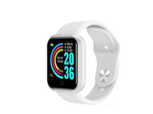 D20 Bluetooth Smart Watches Waterproof Sport Fitness Tracker Smart Bracelet Smartwatch white