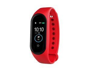 Men Smart Watch Fitness Bracelet Bluetooth Waterproof Heart Rate Monitor Women Smart Watch Fitness Tracker SmartWatch red