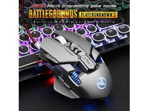 J800 Gaming Mouse Mechanical Macro Definition USB Plug and Play Wired Mouse 7 Buttons Up to 6400 DPI RGB Backlight for PC Laptop