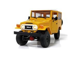 WPL C34KM 1/16 Metal Edition Kit 4WD 2.4G Buggy Crawler Off Road RC Car 2CH Vehicle Models With Head Light yellow 1/16