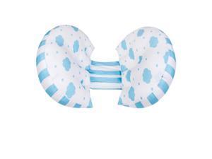 Side Support Abdomen Back Baby Sleeper Pregnancy Ultra Soft U Model Pillow Blue clouds