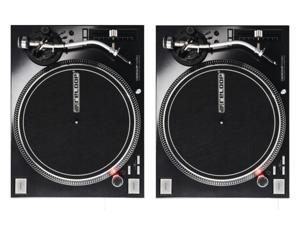 Reloop RP-7000 MK2 - Twin Set of High Torque Direct Drive Turntables (Black)