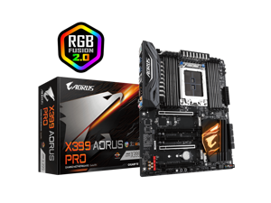 ATX 8 x DDR4 DIMM Max 128GB Socket TR4 AMD X399 Gaming Motherboard with RGB Fusion 2.0, Addressable LED Strip Support, Triple M.2 Direct From CPU Delivered by DHL about 7 business days