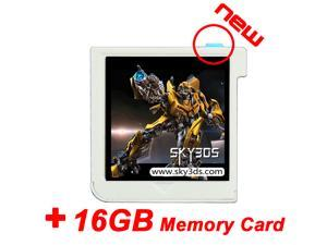 SKY3DS + 16GB memory card, cheap sky3ds flashcard to play 3DS games one all New 3DS, 3DS, 2DS consoles