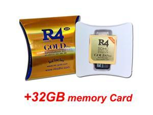 2020 R4i Gold Pro + 32GB Memory Card Combo, R4 Gold RTS R4DS SDHC R4i 3DS Game card Pre-install Kernel and YSMenu
