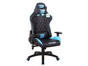 BraZen Phantom Elite PC Gaming Chair - Blue