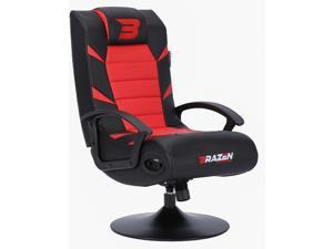 BraZen Pride Gaming Chair - Red/Black - Suitable for PC, Xbox, Nintendo, PlayStation - 2.1 Bluetooth with Surround Sound - Comfortable & Ergonomic-Max Weight of 120 kg - Breathable Material & Pedestal