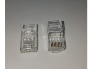 Cat 6 Modular Plug for 23 AWG Round 8P8C Solid RJ 45 cable ,  20 Pieces / Pack