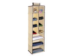11 Cells Hanging Closet Shelves Cabinet Storage Organizer Shelf For Clothes Towels Socks Pajamas Foldable Rod Hanging Cube Shelves Bathroom Wardrobe