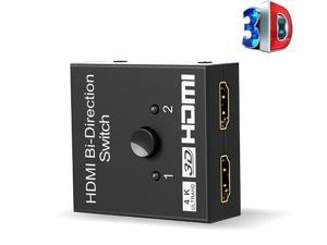 HDMI 2.0 Bi-Direction Switch 1x2 or 2x1 AB switcher with HDCP Pass Through Support 4K 3D