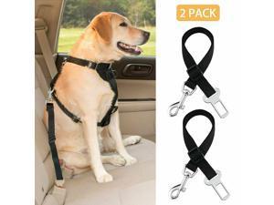 2 Pack Cat Dog Pet Safety Seatbelt for Car Seat Belt Adjustable Harness Lead