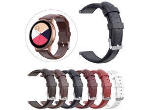 Ouhaobin Leather Watch Band For Samsung Galaxy Watch 42/Active R500 Leather Watch Bands 40MM For Samsung Galaxy Watch 604#2