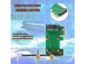 Best Promotion 1PC 802.11n Wireless WIFI Mini PCI-E Card To PCI-E Wlan Adapter Expansion Card