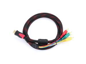 1.5m 5FT HDMI Male to 5 RCA Male Cable Audio Video Component Convert RGB