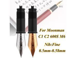 Fountain Pen Metal Nibs Extra Fine Nib 0.5mm 0.58mm Nibs Replaceable Combination For Moonman C1 C2 600S M6