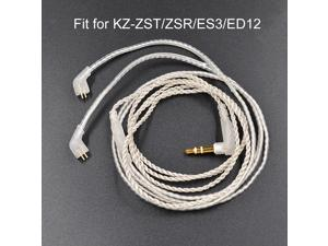 1.2m Replacement 2.5mm TRRS 0.75mm 2Pin Earphone Cable for KZ-ZST/ED12/ES3/zSR
