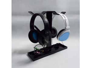 Headphone Stand Acrylic Dual Balance Headset Stand Gaming Headset Holder Mount New Arrival