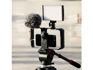 Ulanzi U-Rig Pro Smartphone Video Rig with 2 Shoe Mounts Filmmaking Case Handheld Phone Video Stabilizer Grip Tripod Mount Stand