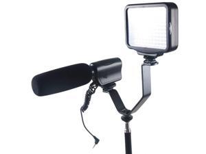 1pcs Dual Hot Shoe V Mount Bracket for Video Lights Microphones or Monitors on Cameras and Camcorders