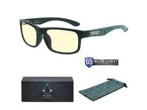 Gunnar Enigma - Assassin's Creed: Valhalla Edition - Teal Frames, Amber Lens - Digital Performance Eyewear, Blue Light and 100% UV Protection, ENI-08401