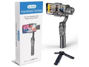 2021 Upgraded Esthepro Handheld 3-Axis Smartphone Gimbal Stabilizer, Great for Vlog Youtuber Live Video Record, for iPhone & Android, Tripod Included
