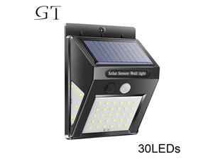 New 30 LED Solar Power Lamp PIR Motion Sensor Wall Light Outdoor Waterproof Energy Saving Street Garden Yard Security Lamp