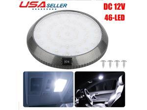 DC12V 46LED Round Car Vehicle Interior Dome Light Indoor Roof Ceiling Lamp White