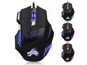 Color : White for PC Games Saalising Gaming Mouse LED RGB Wired Gaming Mouse 4000 DPI High-Precision Laser Computer Gaming Mouse with 7 Programmable Buttons
