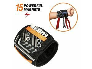 Magnetic Wristband with 15 Strong Magnets for Holding Screws Nails Drill Bits